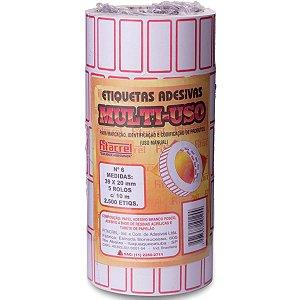 Etiqueta Para Preço 39x20mm C/2500 Etiquetas Fitacrel