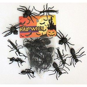 Fantasia Acessório Kit Aranha E Cia Halloween Sor Brasilflex