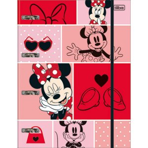 Fichário Cartonado Minnie 80fls. C/Elastico Tilibra