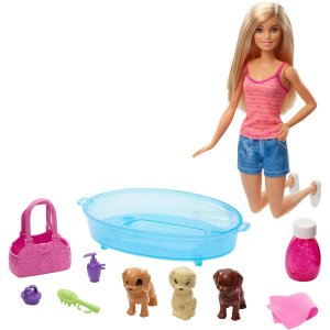 BARBIE FAMILY CUIDANDO CACHORRINHOS MATTEL