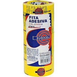 FITA ADESIVA PP 2000 12MMX30M AMARELA EUROCEL