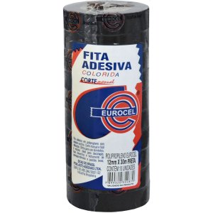 FITA ADESIVA PP 2000 12MMX30M PRETA EUROCEL