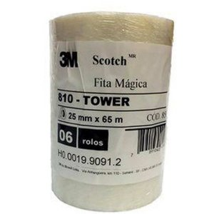 Fita Magica Scotch 810 25Mmx65M S/aparelho 3M