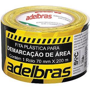 Fita Para Demarcacao De Area Zebrada Rc 70 Mmx200Mx0,04Mm Adelbras