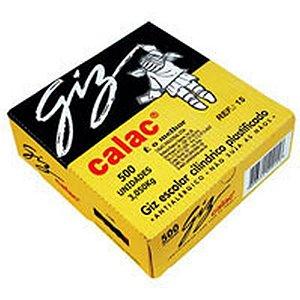 Giz Escolar Plastificado Color Cx.c/500Und. Calac