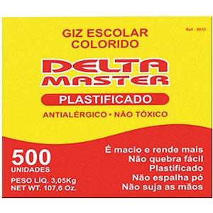Giz Escolar Plastificado Cores Master Cx.c/500 Un. Delta