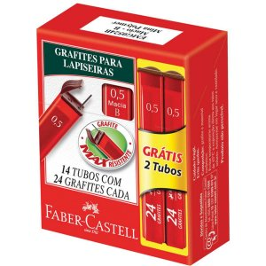 Grafite 0.5Mm Hb 12Tubosx24Minas+2Tb Gratis Faber-Castell