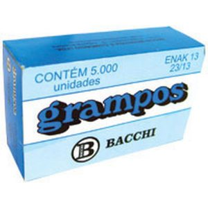 Grampo Para Grampeador 23/13 Galvanizado 5000 Grampos Bacchi