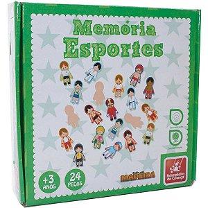 Jogo Da Memoria Esportes Em Madeira Brinc. De Crianca