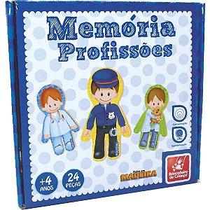 Jogo Da Memoria Profissoes Em Madeira Brinc. De Crianca