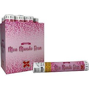Lancador De Confete Meu Mundo Rosa 30Cm Make+
