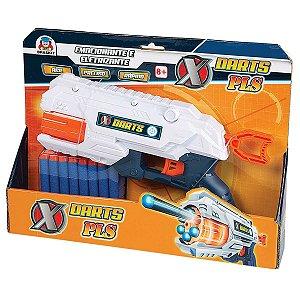 Lancador X Darts Pls C/16 Dardos Braskit