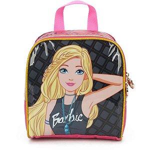 Lancheira Termica Barbie Mao/costas Preta Luxcel