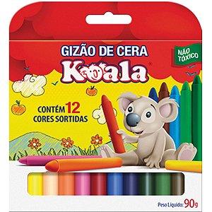 Lapis De Cera Gizao 12 Cores Koala Delta