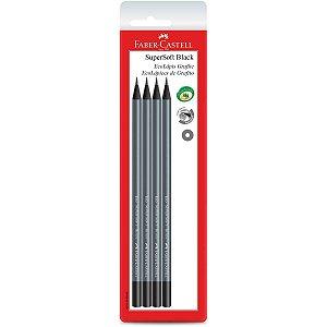Lapis Preto Redondo Ecolapis Supersoft Black C/04 Faber-Castell