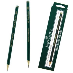 Lapis Preto Tecnico 9000 4B Preto Esc/muito Macio Faber-Castell