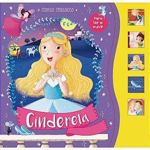 Livro Brinquedo Ilustrado Cinderela Sonoro 12Pgs Ciranda