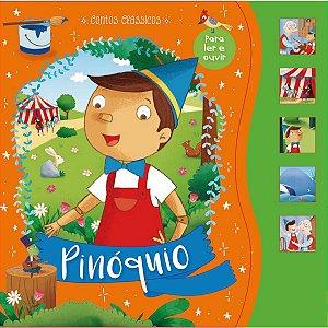 Livro Brinquedo Ilustrado Pinoquio Sonoro 12Pgs Ciranda