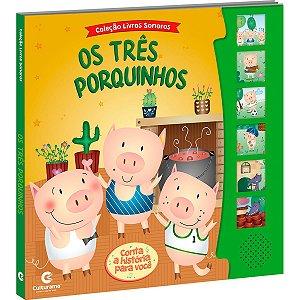 Livro Brinquedo Ilustrado Sonoro Tres Porquinhos Culturama