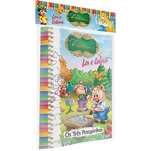 Livro Infantil Colorir Classicos 10Pags 20X27 Bicho Esperto