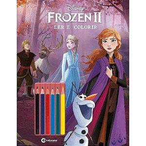 Livro Infantil Colorir Frozen Ii Ler E Colorir Lapis Culturama