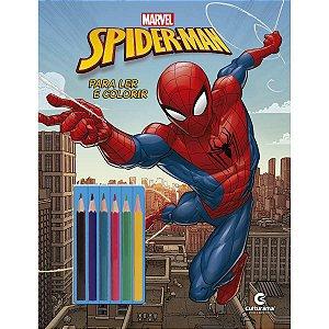 Livro Infantil Colorir Homem Aranha Ler E Colorir C/l Culturama