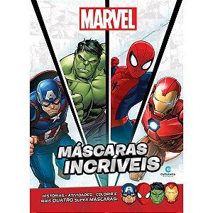 Livro Infantil Colorir Marvel Mascaras Incriveis 32Pg Culturama