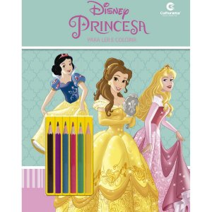 Livro Infantil Colorir Princesas Ler E Colorir C/lapi Culturama
