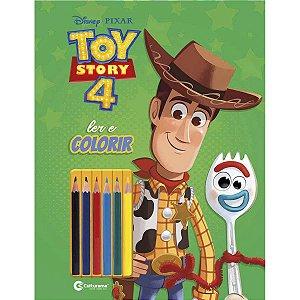 Livro Infantil Colorir Toy Story Ler E Colorir C/lapi Culturama