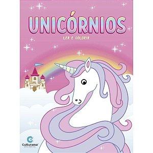 Livro Infantil Colorir Unicornios Ler E Colorir Sort. Culturama