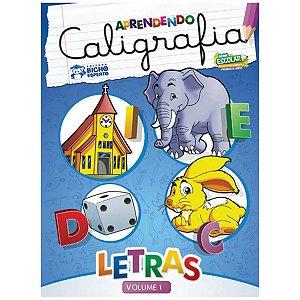 Livro Pedagogico Caligrafia N.1 Letras 24Pag. 20X27Cm. Bicho Esperto
