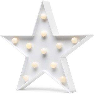 Luminarias Led Estrela Decorativa A Pilha Elgin