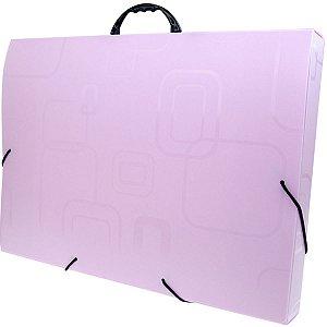 Maleta Plastica Com Alca Dellofine A3 Pink Dello