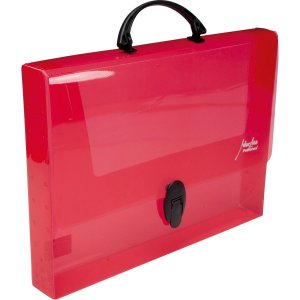 Maleta Plastica Com Alca New Line Plus 45Mm Vermelha Polibras