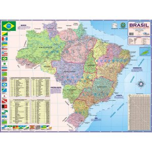 Mapa Periodico Brasil Politic/rodov Multimapas