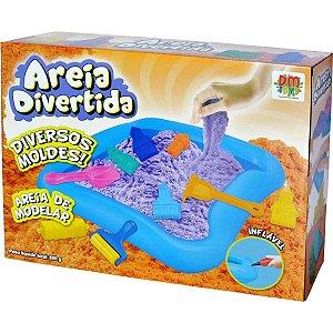 Massa Areia Divertida Castelo 600G 16Pcs Dm Toys