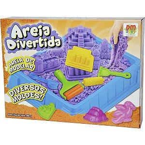 Massa Areia Divertida Castelo 900G 11Pcs Dm Toys