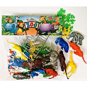 Miniatura Colecionavel Zoologico Completo C/15 Peças Brasilflex