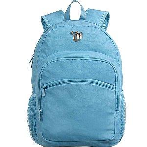 Mochila Escolar Capricho Crinkle Blue G Dmw
