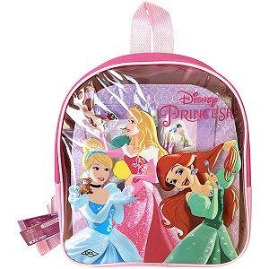 Mochila Escolar Princesas C/livros+Acessorios Dcl