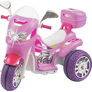 Moto Eletrica Sprint Turbo Pink 12V C/capace Biemme