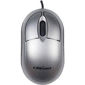 Mouse Optico Usb Espanha 800Cpi Prata Bright