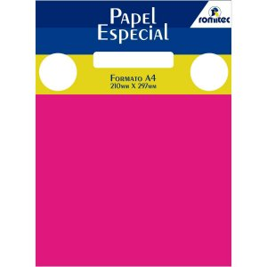 Papel A4 Color Color Mais Pink 180G. Romitec