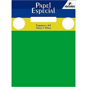 Papel A4 Color Color Mais Verde 180G. Romitec