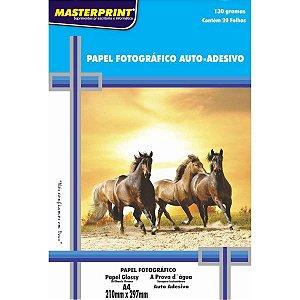 Papel Fotografico Inkjet A4 Glossy Adesivo 130G Masterprint