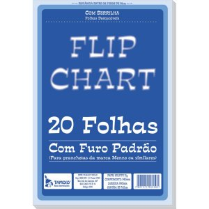 Papel Para Flip-Chart Serrilhado 64X94 75G. 20Fls. Tamoio