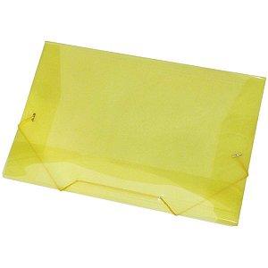 Pasta Aba Elastica Plastica Oficio Amarela Acp