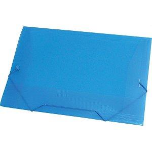 Pasta Aba Elastica Plastica Oficio Azul Acp