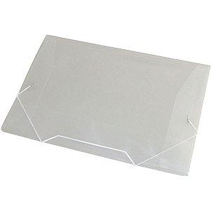 Pasta Aba Elastica Plastica Oficio Cristal Acp