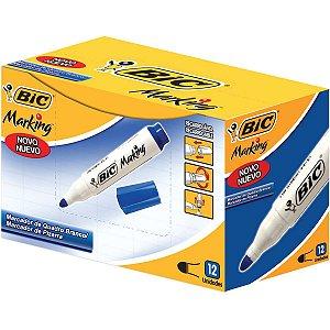 Pincel Quadro Branco Marking Recarregavel Azul Bic